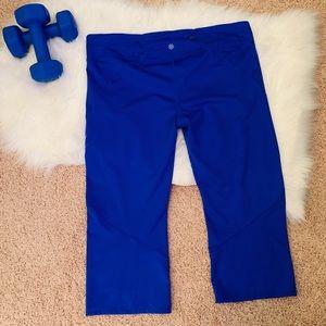 Athleta Pants - Athleta Plus Size Blue Capri Leggings